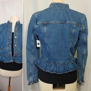 GAP Jackets & Coats - GAP - Ruffle Design Denim Jean Jacket w Tag on!